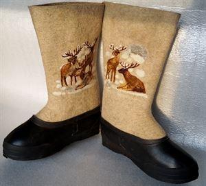 "Picture of Felt boots ""Deer"""