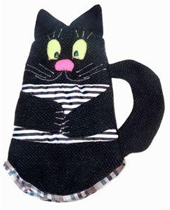"""Малюнок з Прихватка, грілка на чайник """"Чорний кіт"""""""
