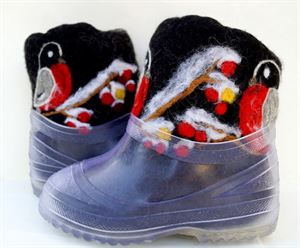Picture of handmade felted wool boots baby, 16 cm