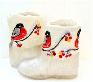 Picture of winter felted handmade boots with hand-painted, 20-22 cm