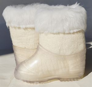 Picture of handmade felt boots with fur, 16 см