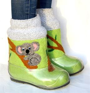 Picture of Hand felt boots with hand-painted, 22-23 см